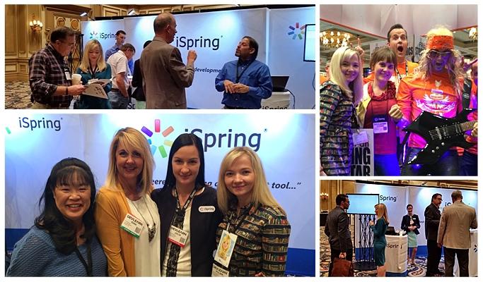 Команда iSpring на выставке DevLearn 2014