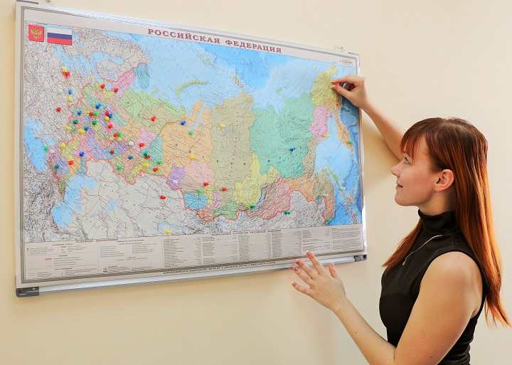 карта России iSpring