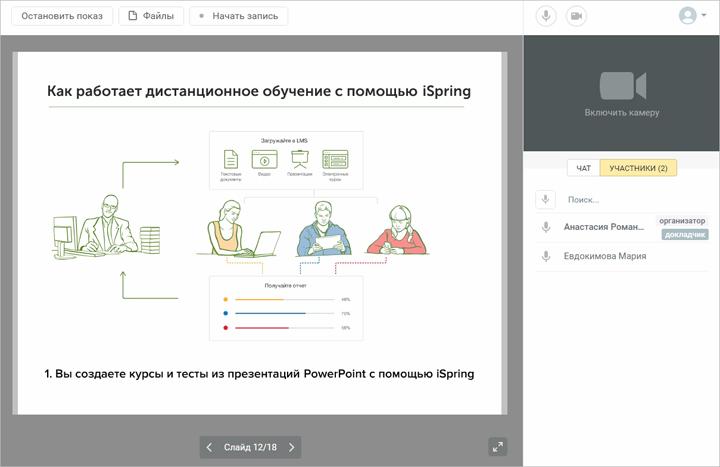 СДО iSpring Online вебинары