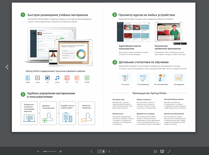 СДО iSpring Online PDF плеер